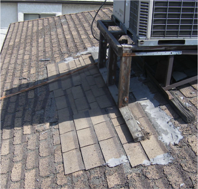 For Example, Roof Mastic, Roof Cement, Or Tar Is Usually Used To  Permanently Repair Roofing Material; However, ...