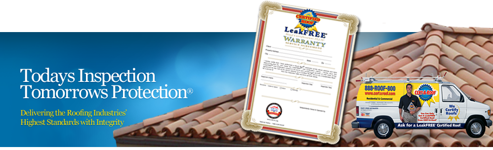 Roof Certification by Cert-A-Roof